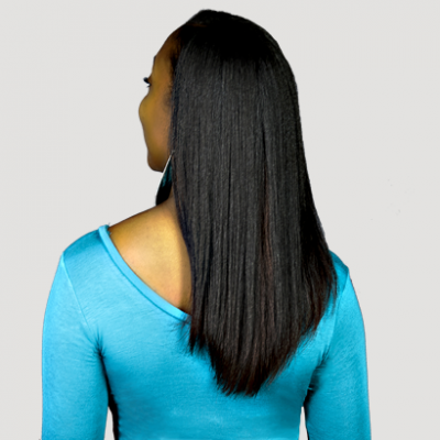 komaza hair care model straight hair