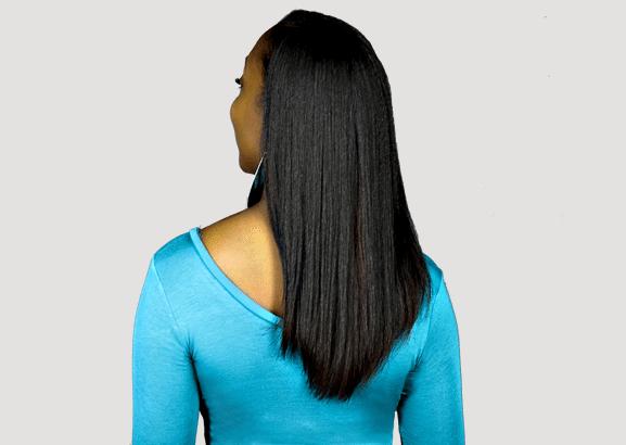komaza hair care model straight hair